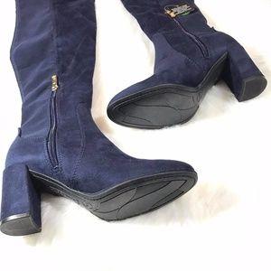 e4f2934ddee Liz Claiborne Shoes - LIZ CLAIRBORNE LEYLA BLUE OVER THE KNEES BOOTS
